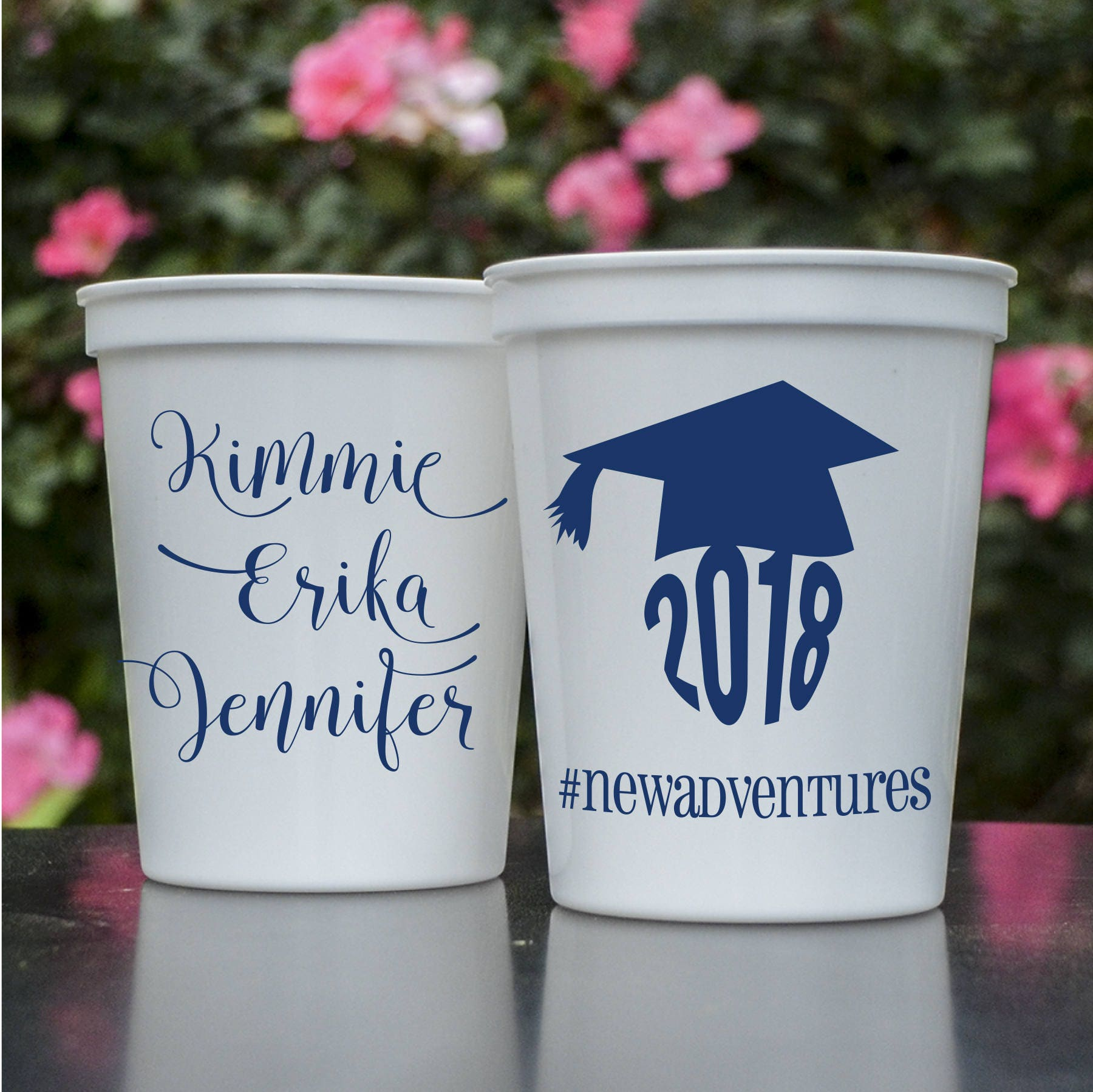 Graduation Tassel Printed Party Cups Party Favors Class Of