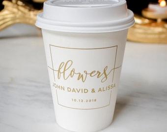 Custom Paper Coffee Cups, Company Logo Coffee Cups, Paper Cups, Paper Party Cups, Wedding Cups, Personalized Cups, Coffee Bar, Hot Chocolate