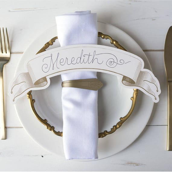 Large Banner Placecards, Gold Table Banners, Table Numbers, Escort Cards, Wedding Seating Cards, Wedding Banners, Seating Decor, Set of 12