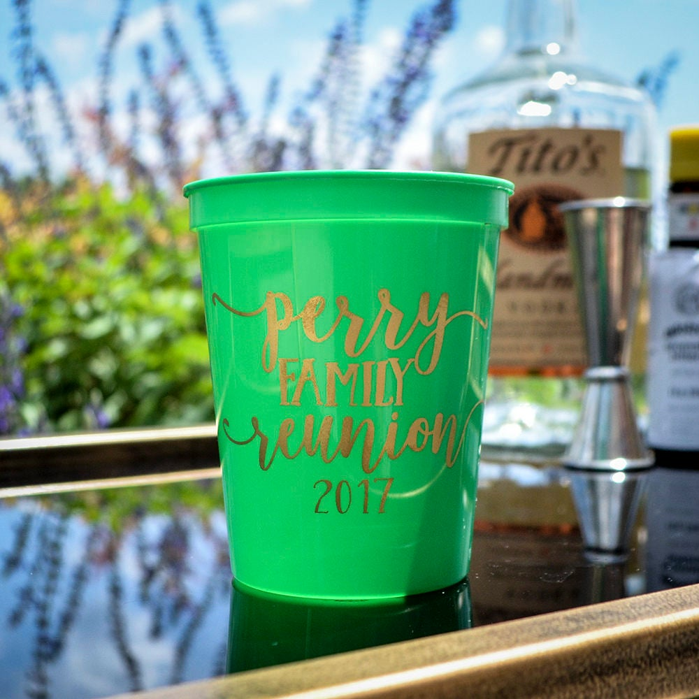 Personalized Family Reunion Stadium Cups Custom Reunion Etsy