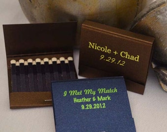 250 of the 30-Strike Personalized Matchbooks, Printed Personalized Matchbooks, Custom Wedding Matchbooks, Wedding Favors