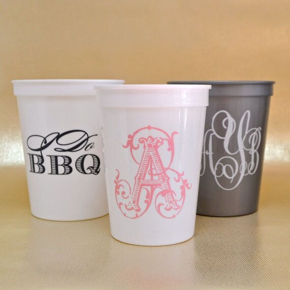 Plastic Cups For Wedding   Personalized Stadium Cups Custom Plastic Cups Wedding Cups Etsy