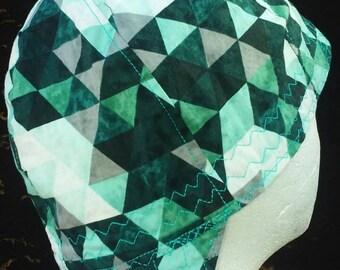 Green Geometric Triangles   Welding Cap