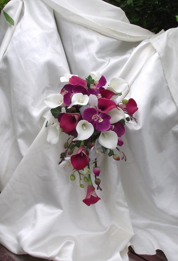 Orchidee Brautstrauss Orchideen Und Calla Lilien Blumenstrauss Etsy