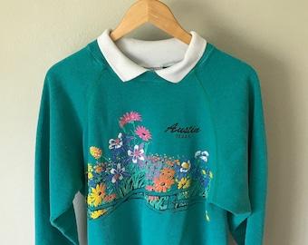 1990 Floral Austin Sweater