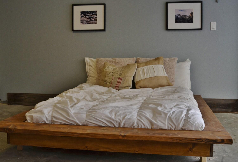 010e8ed137f9 Floating Rustic Wood Platform Bed Frame-Quilmes