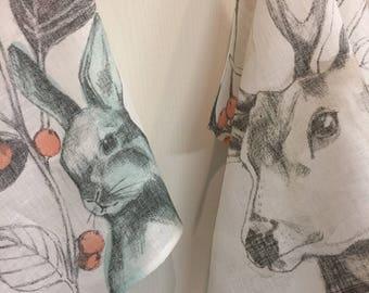 Linen Tea Towel Dish Towel Kitchen Decor Hand Towel Christmas Set 2 Gift