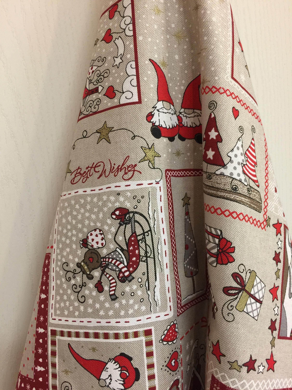 christmas towel tea towel grey linen cotton kitchen guest. Black Bedroom Furniture Sets. Home Design Ideas