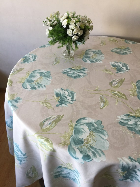 Round Tablecloth Oval Tablecloth Cotton Fabric Big Size 70 | Etsy