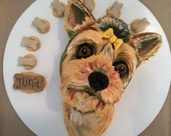 Pup Portrait Sugar Free Dog Birthday Cake