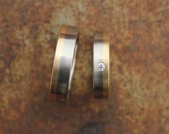 wedding bands 14k & 18k diamond