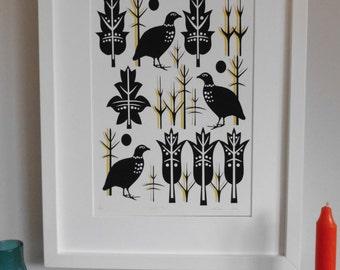 Winter Sun, Contemporary Giclee, Bird Print