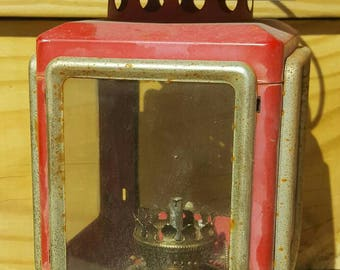 Vintage kerosene Lantern - stagecoach or ship lantern replica great repurpose/craft project for Christmas or other holidays