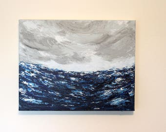 Acrylic Painting - Ocean Scape Painting