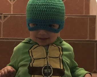 Crochet Teenage Mutant Ninja Turtles Inspired Hat