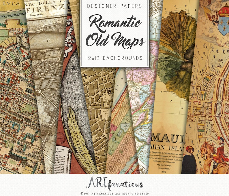 Old world maps Romantic City Maps of The World image 0