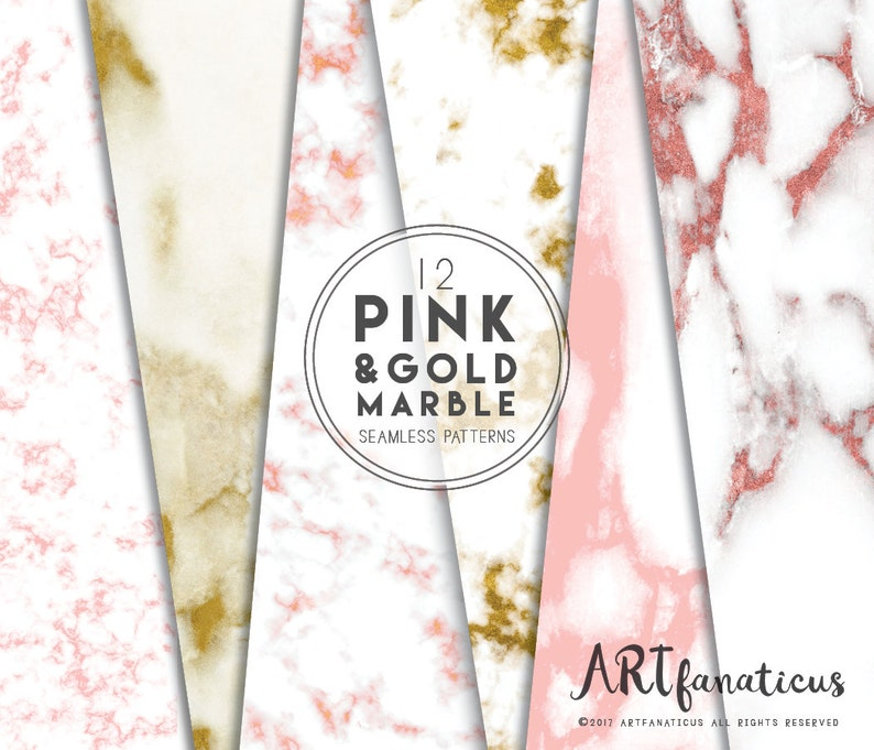 Pink & Gold Marble seamless texture marble backgrounds image 0