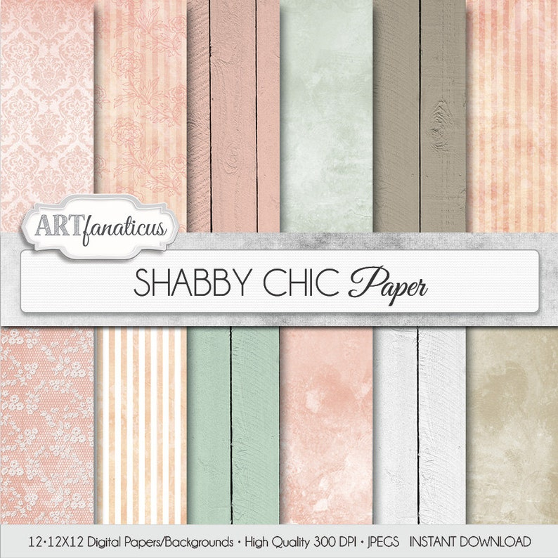 Wedding digital papers SHABBY CHIC WEDDING rustic image 0