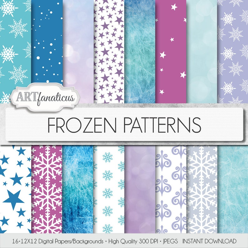 Frozen digital papers Frozen Patterns palette image 0