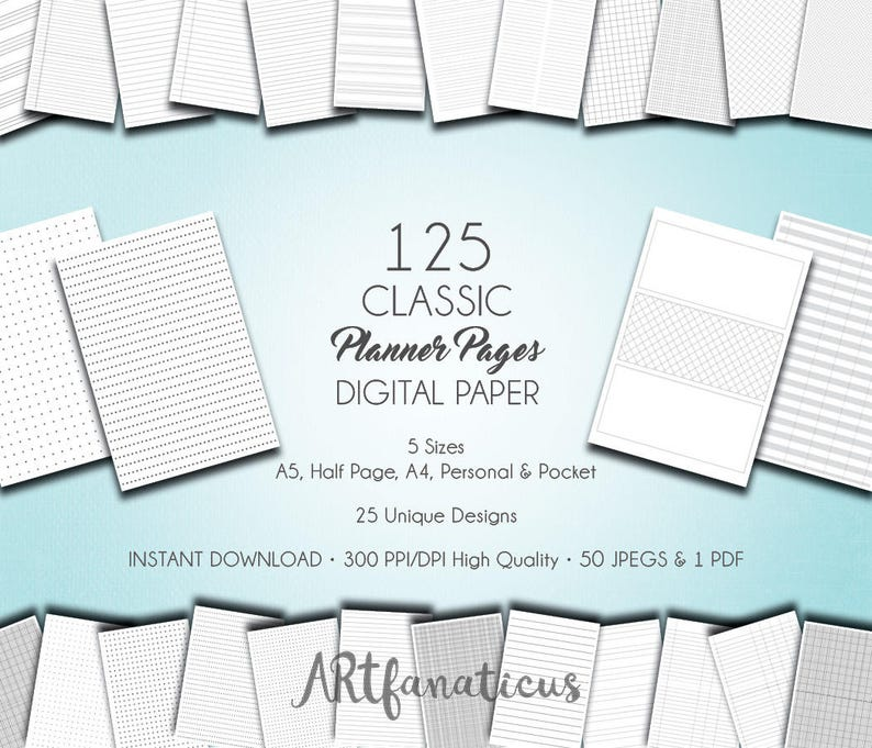 Digital Planner Paper CLASSIC PLANNER PAGES image 0