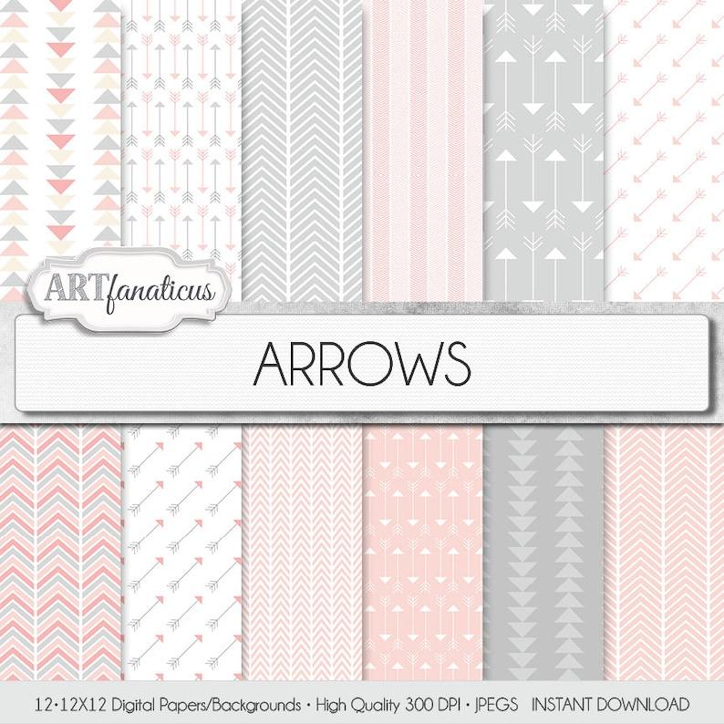 Arrows Digital Papers: ARROWS chevron patterns image 0