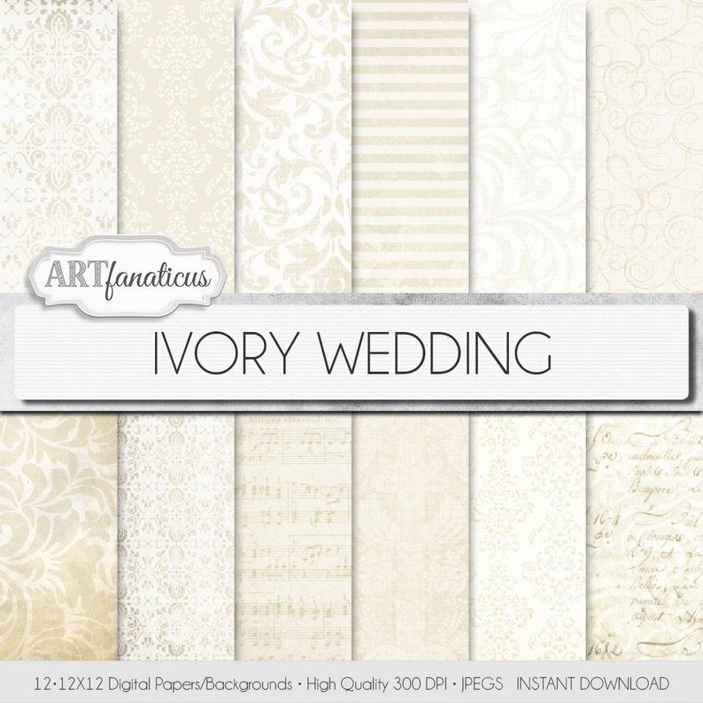 Ivory wedding papers IVORY WEDDING elegant ivory image 0