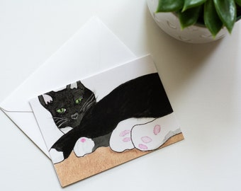 Charlie - Rescued Cat Notecard