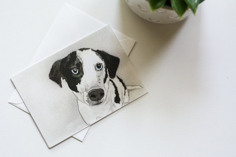 Mike  Rescued Dog Notecard image 0