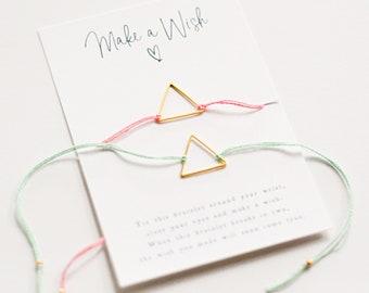 Open Triangle Wish Bracelet