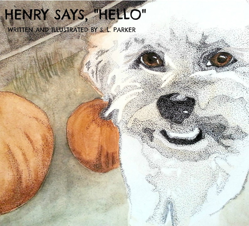 Childrens book Henry says Hello. Full colour illustrations image 0
