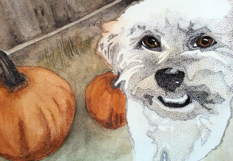 Henry with Pumpkins  notecard image 0