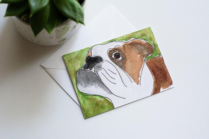 Alpha  Rescued Dog Notecard image 0