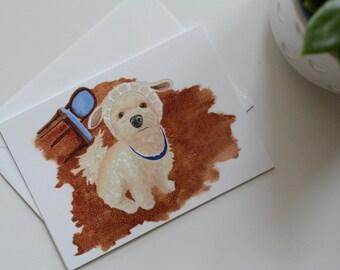 Naughty Little Lamb - notecard - Child's Birthday - Baby Shower - New Baby