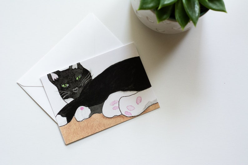 Charlie  Rescued Cat Notecard image 0