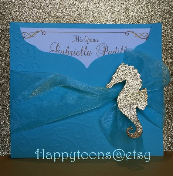 Beach Theme Quinceanera Sweet Sixteen Invitations Under The Etsy