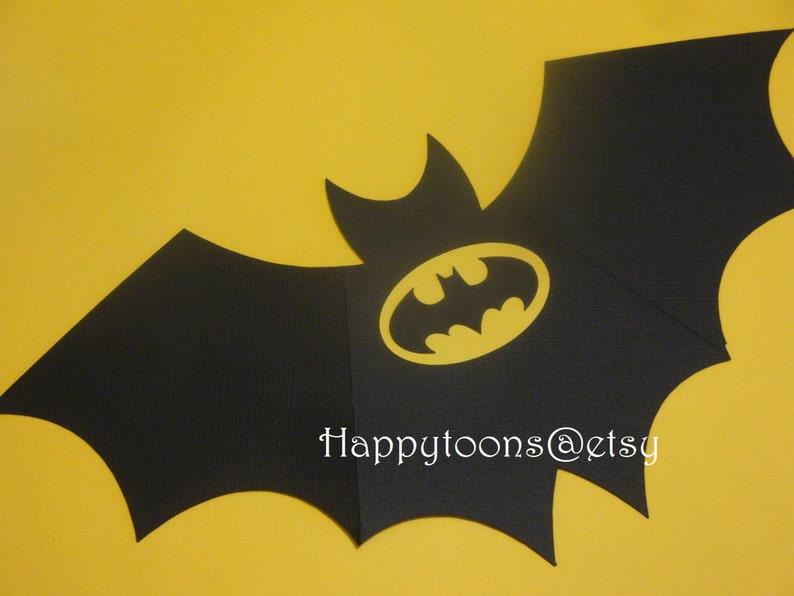 batman birthday party invitations set of 8-super hero