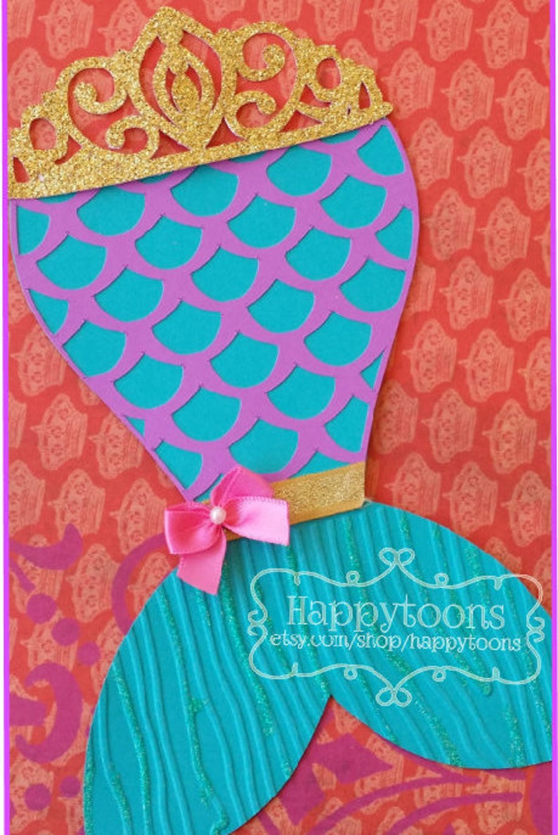 Mermaid Birthday Invitation Party Invite Under The