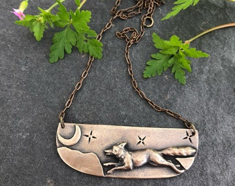 Fox in the Moonlight Necklace
