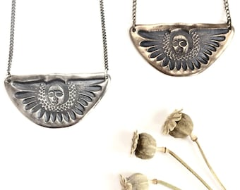 Angel Necklace in Sterling Silver and Bronze