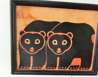 1983, Taylor & Ng, San Francisco, Signed, Bear Tray, Wall Plaque