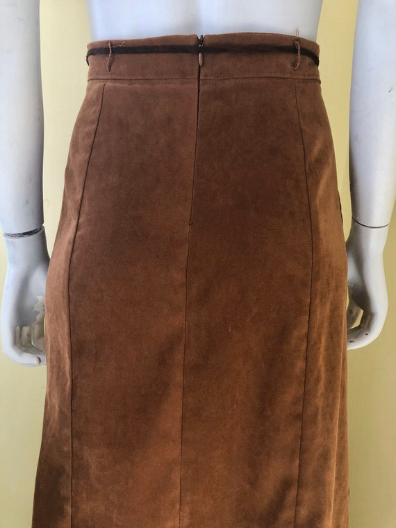 1990's, White Stag, Faux Suede, Brown Polyester, … - image 1