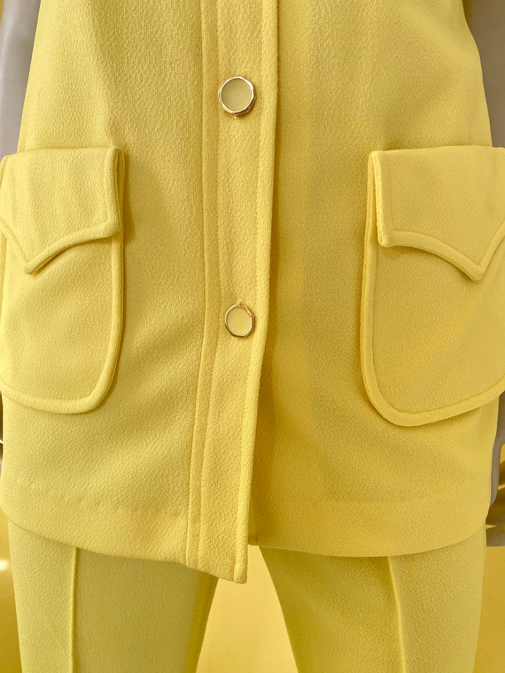 1970's, Two Piece, Western Leisure Suit, Yellow C… - image 5