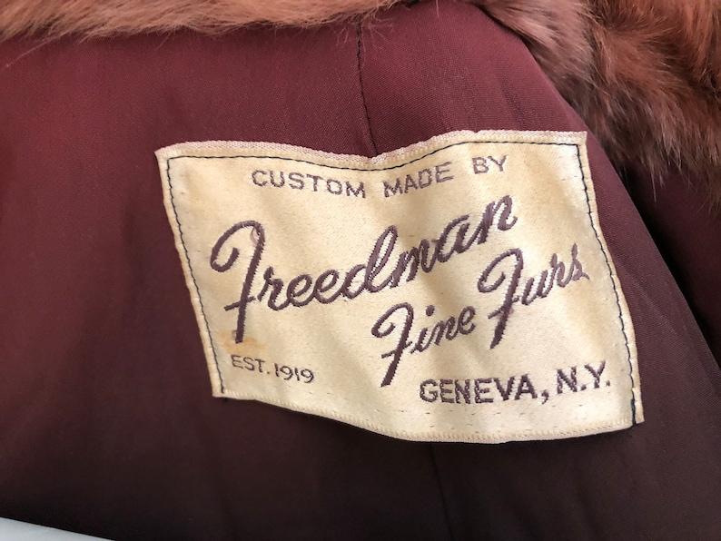 Stole 1950/'s Geneva size m NY Freedman Fine Furs Genuine Fur With Pockets!