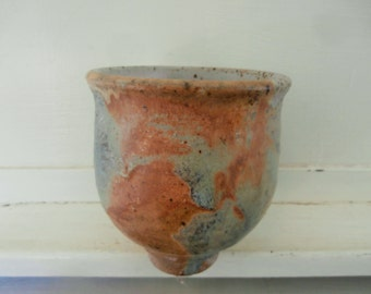 Vintage, 1970's, Art Pottery, Signed, Clay Vessel