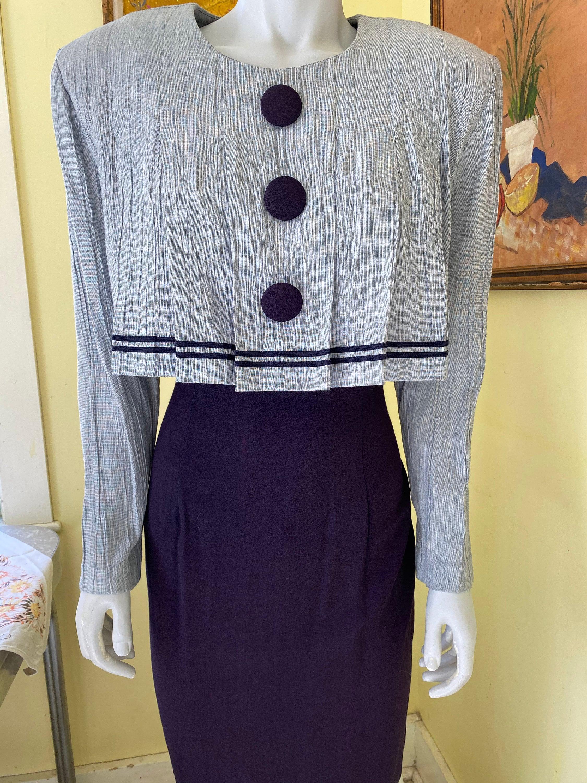 80s Dresses   Casual to Party Dresses 1980s, Taurus Ii, Dress, Huge Shoulder Pads $0.00 AT vintagedancer.com