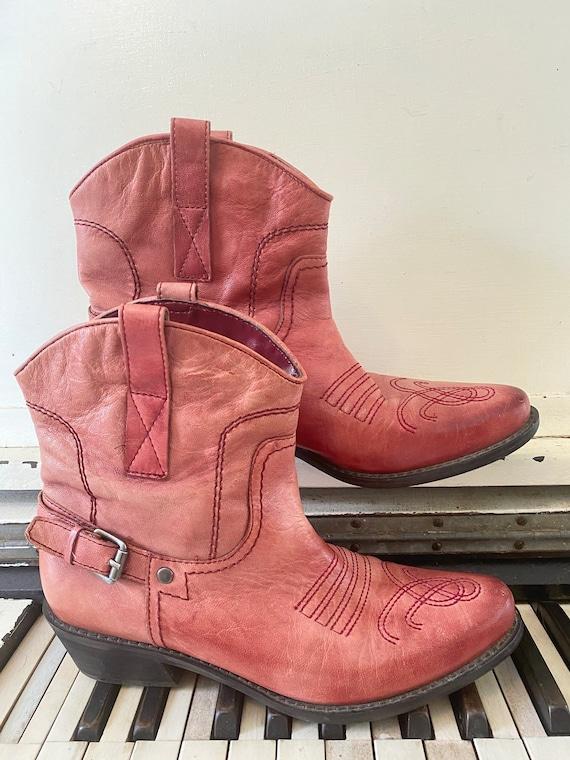 1990's, Franco SARTO, Pink Leather, Cowboy, Wester