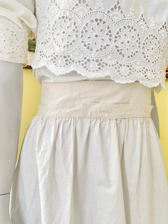 RARE, Antique, Heavy Cotton, Underskirt, Button Ho
