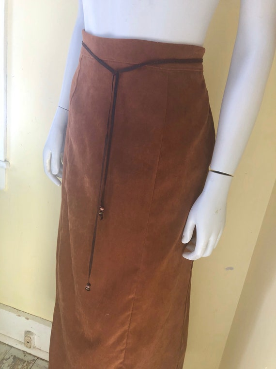 1990's, White Stag, Faux Suede, Brown Polyester, … - image 2