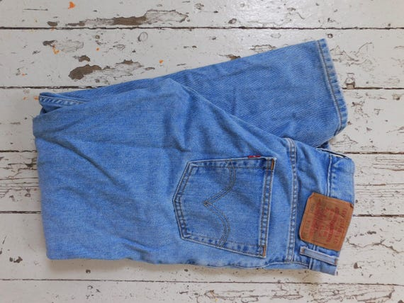 Vintage, LEVI's, 550, Red Tag, High Waisted, 11