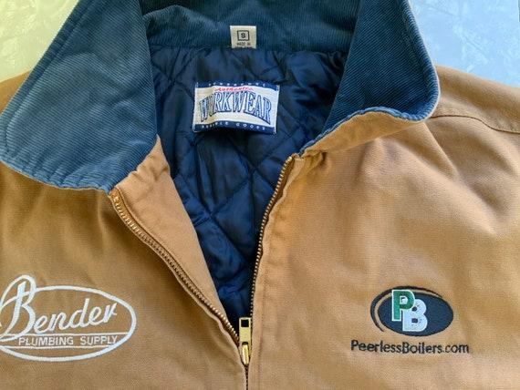 Vintage, Workwear, Tan Cotton Canvas, Jacket, Quil